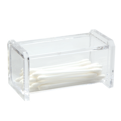 Keep small items stored with the Acrylic Cotton Swab Holder. Clear for easy identification.