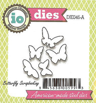 5 Butterfly American made Steel Dies by Impression Obsession DIE046-A New