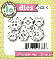 6 Buttons American made Steel Dies by Impression Obsession DIE067-C New
