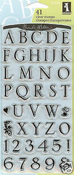 ALPHABET SOMERSET Clear Unmounted Rubber Stamp Set INKADINKADO 97718 NEW