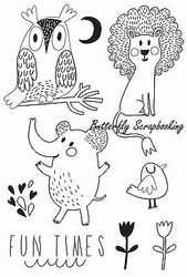 Animal Hello Sunshine Collection 8 Clear Unmounted Rubber Stamps Kaisercraft NEW