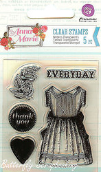 Anna Marie #2, Clear Unmounted Rubber Stamp PRIMA MARKETING INC. - 570088