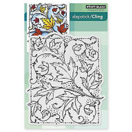 Autumn Dance, Cling Style Unmounted Rubber Stamp PENNY BLACK - NEW, 40-357