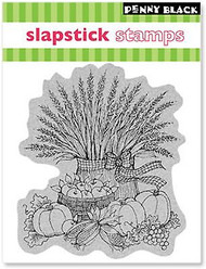 AUTUMN HARVEST GIFTS Cling Style Unmounted Rubber Stamp PENNY BLACK 40-037 New