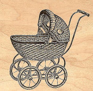 Baby Carriage, Wood Mounted Rubber Stamp JUDIKINS, NEW - 3367F