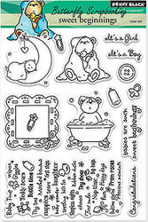 BABY Sweet Stamp Set Clear Unmounted Rubber Stamp Set PENNY BLACK 30-221 New