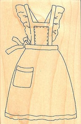 Baker's Apron, Wood Mounted Rubber Stamp IMPRESSION OBSESSION - NEW, F9584