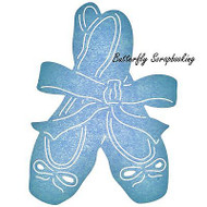 BALLERINA BALLET SLIPPERS Die Steel Die Cutting Die CHEERY LYNN DESIGNS B589 New