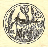 Baltimore Oriole In Spring, Wood Mounted Rubber Stamp NORTHWOODS - NEW, PP9764