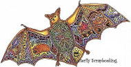 BAT Animal Spirit Cling Unmounted Rubber Stamp EARTH ART Sue Coccia New