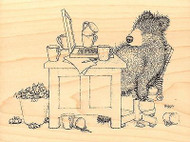 Bearly Working GRUFFIES Wood Mounted Rubber Stamp STAMPENDOUS, NEW - HGRR03