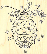 Beehive Bees Wood Mounted Rubber Stamp Leigh Hannan Impression Obsession NEW