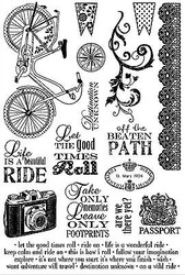 Bike Florish BEAUTIFUL Set Cling Unmounted Rubber Stamps Darcies JCS0160 NEW