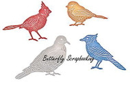 BIRDS Feathered Friends Dies Steel Die Cutting Dies CHEERY LYNN DESIGNS B557 New