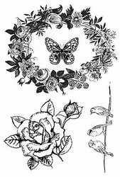 Birds Honey Chai Collection 4 Clear Unmounted Rubber Stamps Kaisercraft NEW