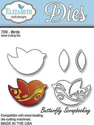 Birds, Steel Cutting Die ELIZABETH CRAFT DESIGNS - NEW, #709