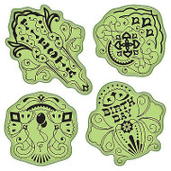 Birthday Fiesta Stamping Gear Unmounted Cling Rubber Stamp Set Inkadinkado New