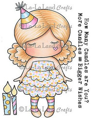 Birthday Marci Stamp Set Cling Unmounted Rubber Stamp La La Land Crafts 5242 Ne
