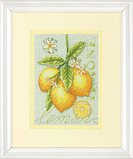 Botanical Lemons Lemon Counted Cross Stitch Dimensions Cross Stitch Kit NEW