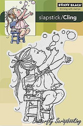 Bubble Girl, Cling Style Unmounted Rubber Stamp PENNY BLACK - NEW, 40-228