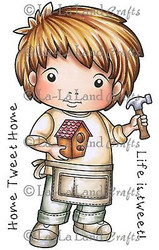 Building Luka Stamp Set Cling Unmounted Rubber Stamp La La Land Crafts 5251 New