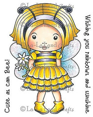 Bumble Bee Marci Stamp Set Cling Unmounted Rubber Stamp La La Land Crafts 5207