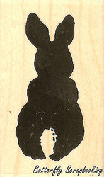 Bunny Back Medium, Wood Mounted Rubber Stamp IMPRESSION OBSESSION - NEW, C8127