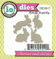 Bunny Rabbit Set American made Steel Dies by Impression Obsession DIE168-C New
