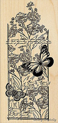 Butterfly Chapter, Wood Mounted Rubber Stamp PENNY BLACK - NEW, 4378K