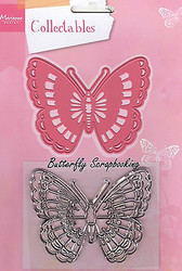BUTTERFLY Rubber Stamp & Die Set Marianne Design Collectables Die COL1317 New