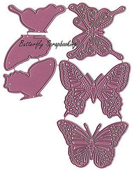 BUTTERFLY Set American made Steel Dies by Cheery Lynn Designs DIE DL113AB New