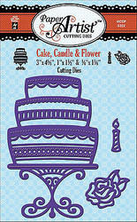 Cake Candle & Flower Dies Craft Cutting Dies Hot Off The Press Die HOTP 5322 New
