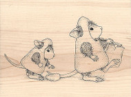 Candy Corn Treat NEW HOUSE MOUSE Wood Mounted Rubber Stamp STAMPENDOUS Halloween