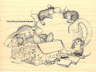 Chamomile Nap HOUSE MOUSE Wood Mounted Rubber Stamp STAMPENDOUS, NEW - HMR26