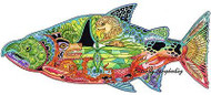 CHINOOK SALMON Animal Spirit Unmounted Rubber Stamp EARTH ART Sue Coccia New