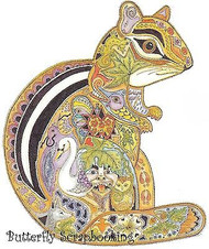 CHIPMUNK Animal Spirit Cling Unmounted Rubber Stamp EARTH ART Sue Coccia New