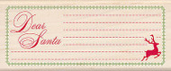 Christmas Dear Santa Tag Wood Mounted Rubber Stamp INKADINKADO New