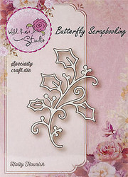 Christmas Holly Creative Steel Die Cutting Dies WILD ROSE STUDIO SD023 New