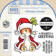 CHRISTMAS Mouse Unmounted Rubber Stamps Set MAKEY BAKEY MICE MBM-C-CSEA-EZ New