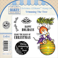 CHRISTMAS Mouse Unmounted Rubber Stamps Set MAKEY BAKEY MICE MBM-C-TREE-EZ New