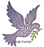 CHRISTMAS Peace Dove Die Steel Die Cutting Die CHEERY LYNN DESIGNS B605 New