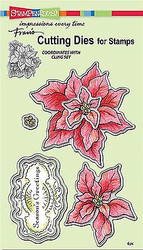 CHRISTMAS POINSETTIA Dies Craft Die Cutiing Die Set Stampendous DCS5081 NEW