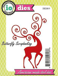 CHRISTMAS REINDEER FLOURISH Die Cutting Die Impression Obsession DIE336-V New