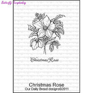 Christmas Rose, Cling Style Unmounted Stamp DAILY BREAD DESIGNS - NEW, D276