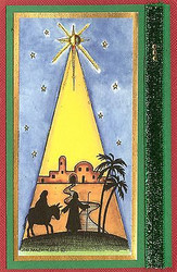 CHRISTMAS Star And Nativity Wood Mounted Rubber Stamp NORTHWOODS O9893 New