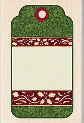 Christmas Tag Susan Winget Wood Mounted Rubber Stamp INKADINKADO New