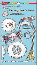 CHRISTMAS WINTER SNOWMAN Dies Craft Die Cutiing Die Set Stampendous DCS5079 NEW