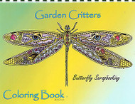 Coloring Book GARDEN Criters Animal Spirits 15 Pages EARTH ART Sue Coccia New