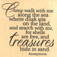Come Walk With Me Text Wood Mounted Rubber Stamp IMPRESSION OBSESSION D13007 NEW