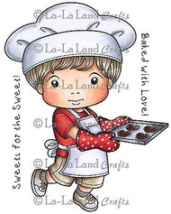 Cookies Luka Stamp Set Cling Unmounted Rubber Stamp La La Land Crafts 5234 New